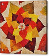 The Artistry Of Fall Klimt Homage Acrylic Print