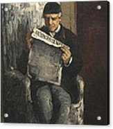 The Artists Father Reading L Evenement Acrylic Print