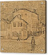 The Artists House In Arles Acrylic Print by Vincent Van Gogh