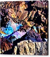 The Artists Palette Death Valley Acrylic Print