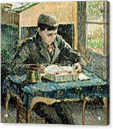The Artists Son Acrylic Print by Camille Pissarro