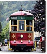 The Astoria Trolley Running Acrylic Print
