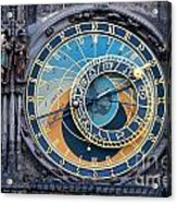 The Astronomical Clock In Prague Acrylic Print