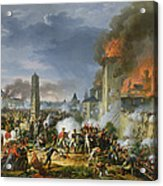 The Attack And Taking Of Ratisbon, 23rd April 1809, 1810 Oil On Canvas Acrylic Print