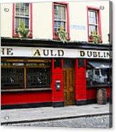 The Auld Dubliner  Acrylic Print