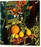 The Autumn Chair Acrylic Print
