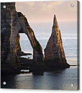 The Aval Door In Etretat  France  Acrylic Print