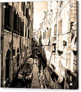 The Back Canals Of Venice Acrylic Print