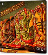 The Back Forty Boots Are Made For Dancin' Acrylic Print