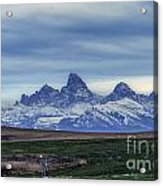 The Back Side Of The Tetons Acrylic Print