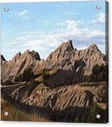 The Badlands In South Dakota Oil Painting Acrylic Print
