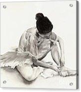 The Ballet Dancer Acrylic Print by Hailey E Herrera