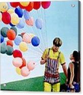The Balloon Man Acrylic Print by Michael Swanson