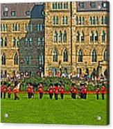The Band Played On In Front Of Parliament Building In Ottawa-on Acrylic Print
