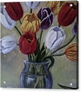 The Banker's Tulips Acrylic Print