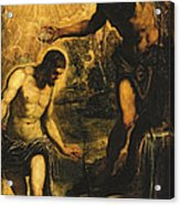 The Baptism Of Christ Acrylic Print by Jacopo Robusti Tintoretto