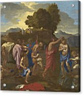 The Baptism Of Christ Acrylic Print by Nicolas Poussin