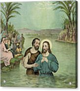 The Baptism Of Jesus Christ Circa 1893 Acrylic Print by Aged Pixel