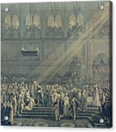 The Baptism Of The King Of Rome 1811-32 At Notre-dame, 10th June 1811, After 1811 Engraving Acrylic Print