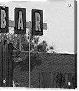 The Bar Acrylic Print