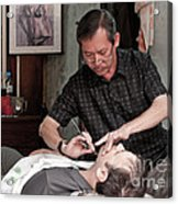 The Barber Shaves Another Customer 02 Acrylic Print