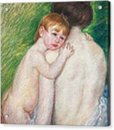 The Bare Back Acrylic Print by Mary Cassatt Stevenson