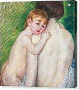 The Bare Back Acrylic Print by Mary Cassatt Stevenson