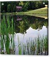 The Barn Across The Pond Acrylic Print