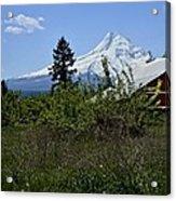 The Barn And  Mt. Hood Acrylic Print