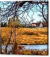 The Barn In Autumn Acrylic Print