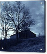 The Barn In Blue Acrylic Print