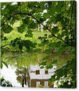 The Barn In The Water Acrylic Print
