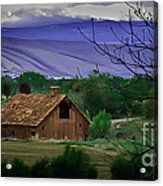 The Barn Acrylic Print by Robert Bales