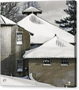 The Barns At Castle Hill After The Snow Acrylic Print