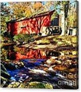 The Bartram Coverd Bridge Acrylic Print