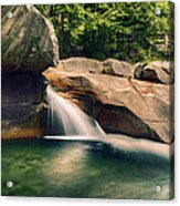 The Basin At Franconia Notch State Park Nh Acrylic Print