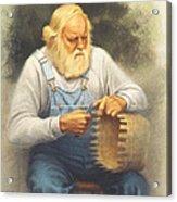 The Basketmaker In Pastel Acrylic Print