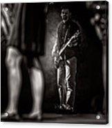 The Bassist Acrylic Print