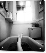 The Bath Acrylic Print by Lindsay Garrett