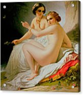 The Bathers Acrylic Print by Louis Hersent