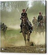 The Battle Acrylic Print by Angel  Tarantella