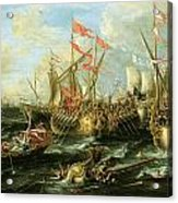 The Battle Of Actium 2 September 31 Bc Acrylic Print