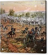 The Battle Of Gettysburg, July 1st-3rd Acrylic Print
