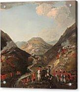 The Battle Of Glen Shiel 1719 Acrylic Print