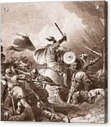 The Battle Of Hastings, Engraved Acrylic Print