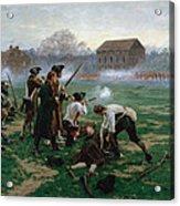 The Battle Of Lexington, 19th April 1775 Acrylic Print
