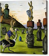 The Battle Over Easter Island Acrylic Print by Leah Saulnier The Painting Maniac