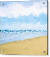 The Beach Abstract Art Acrylic Print by Ann Powell