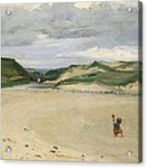 The Beach At Ambleteuse, 1869 Oil On Canvas Acrylic Print