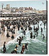 The Beach At Atlantic City 1902 Acrylic Print